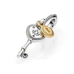 Pandora Heart-Shaped Key Dangle Charm